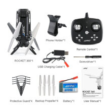 [COZIME] JJR/C H51 RC Helicopter Rocket-like 360 WIFI Elfie Drone 720P RC Quadcopter Black