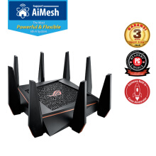 ASUS ROG GT-AC5300 WiFi Tri-band Gigabit Gaming Wireless Router with AiMesh & AiProtection