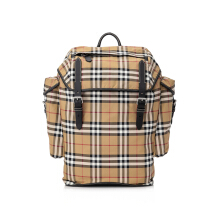 Burberry Nylon Vintage Check Medium Backpack