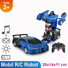 Remote Control Transform Mobil Jadi Robot - 2110B Scale 1:17