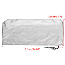 19-24 Inch Computer Flat Screen Monitor Dust Cover PC Laptop Protectors 2 Color Silver (24 inch)