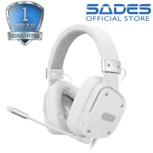 Sades SnowWolf Multi-platform Gaming Headset White