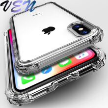 VEN Shockproof Bumper Transparent Silicone Phone Case For iPhone X XS XR XS Max 8 7 6 6S Plus Clear protection Back Cover