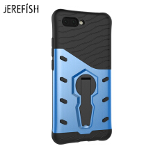 JEREFISH HuaWei Honor10 Phone Case Multi-Layer Hybrid Protective Case with 360 Degree Rotating Stand for Cover