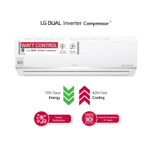 LG AC Dual Cool Smart Inverter 2PK - E19SIV4 [Indoor + Outdoor Unit Only]