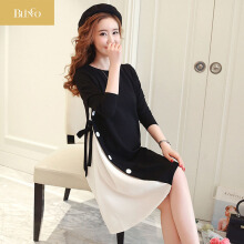 BLINGO New M-2XL Maternity Clothes Autumn Long Sleeve Cotton Pregnant Dress Pregnancy Clothes For Pregnant Women