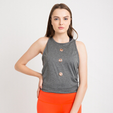 CoreNation Active Icon Tank - Misty Hitam / Salmon