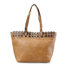 HUER Rave Eyelets Tote Bag 9475-001 Brown