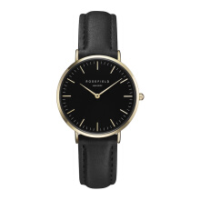 ROSEFIELD The Tribeca Gold Black Dial Watch with Black Strap [TBBG-T56]