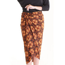 Rianty Marvella Rok Lilit Batik Instan - Brown Brown All Size