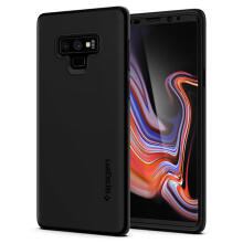 Case Galaxy Note 9 Spigen Full Thin Fit 360 with Tempered Glass Casing - Black