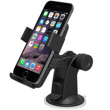 Farfi Black Car Mount Easy One Touch Windshield Dashboard Car Mount Holder for Phone