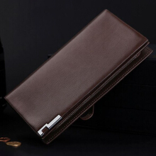 Zanzea RFID Antimagnetic Multi-functional Business Casual Long Wallet Clutch Bag For Men Brown