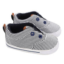 Farfi Baby Boys Sole Anti-Slip Stripe Prewalker Low Tube Shoes