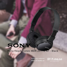 Sony MDR ZX110AP / MDRZX110AP / ZX110 AP Monitoring Headphones Black