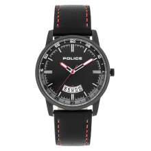 Police PL.15288JSB/02 Men Black Dial Black Leather Strap [PL.15288JSB/02]