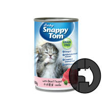 BABY SNAPPY TOM 150 gr kitten with beef feast