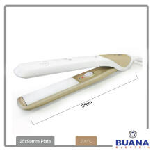 Harnic-Heles 2 in 1 Hair Straightener - Catokan Rambut /Pengeriting Rambut Ceramic Plate HL-711 Gold