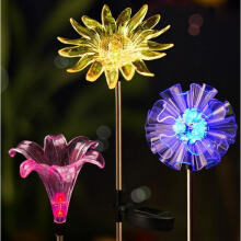 ARILUX® Solar Multi-Color Changing LED Flower Stake Light for Outdooors Garden Patio Yard Decor