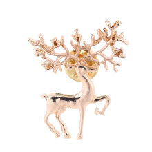 [COZIME] Cute New Year Christmas Deer Xmas Gift Alloy Brooch Pin Party Decoration Silver