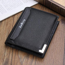 Zanzea 0051Fashion Men Wallet Leather ID Credit Card Holder Bifold Coin Purse Money Pockets Blue