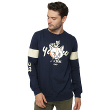 SIDEWAYS Yubitsume Neko Sweater - Navy