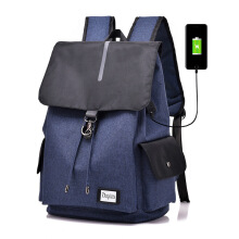 SiYing Smart Backpack Canvas Polyester USB Interface Charging Backpack