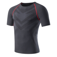 SBART Men Cool Dry Compression Training Short Sleeve T Shirts Running Fitness Gym Sport Tee Tops
