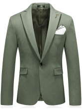 Fashionmall Lapel Handkerchief and Metal Embellished Blazer