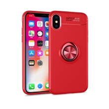 RockWolf iphone X case Silicone metal ring shell magnetic bracket soft shell
