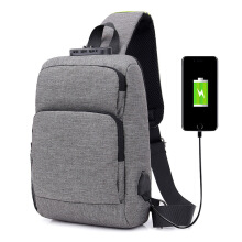 DXYIZU fashion Messenger bag USB charging anti-theft password lock men's bag