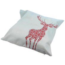 PKG Christmas Sofa Bed Home Decoration Festival Square Pillow Case Cushion Cover (Elk modeling)