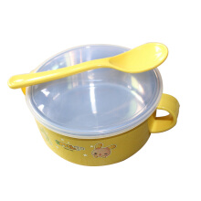 SiYing Cartoon insulated bowl baby shatter-resistant feeding bowl