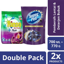 Paket SUPER PELL Himalayan Berries Refill 700ml & RINSO MOLTO Purple 800gr