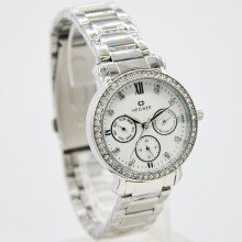 Hegner Stainless Steel Ladies 5023-1LS-320D31SLPT Chronograph Silver Putih Grey