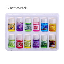 [COZIME] 12 Bottles/Pack 3ml Natural Essential Oil For Aromatherapy Humidifier Purifier multicolor
