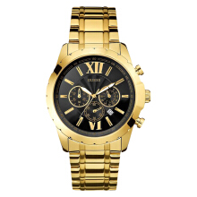 Guess U0193G1 Chronograph Men Black Dial Gold Stainless Steel Strap [U0193G1]