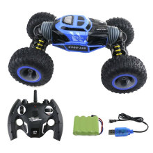 [kingstore] ZG-UD2169A RC Car Double-sided One Key Transformation Climbing Toy Blue