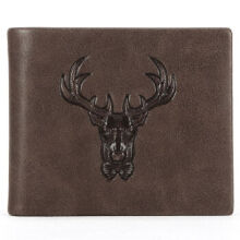 Playboy PAA4063-7C Men's multi-functional wallet Cowhide leather cross section multi-card casual men's wallet-Coffee