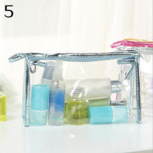 Farfi Transparent Clear Zipper PVC Make Up Toiletry Bag Travel Pouch Holder