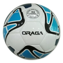 Oraga Liga Bola Sepak Match Waterproof Size 5 - White/Cyan/Black 5