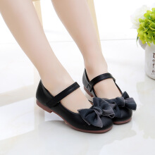 SiYing Princess children's flat shoes bow cute single shoes children's shoes