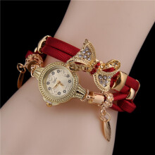 PEKY Butterfly Vintage Bracelet Watch Lady Cute Wedding Quartz Watch