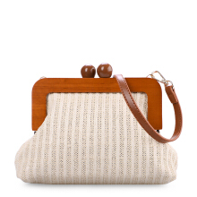 VOITTO Straw Clutch Y8012 - Ivory
