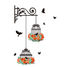 [kingstore]Removeable Wall Stickers Wall Painting Birdcage Background Room Decoration Multicolor Multicolor