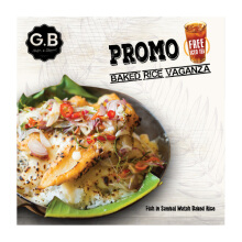 GB Bistro - Paket GB Fish in Sambal Matah Rice  + Ice Tea