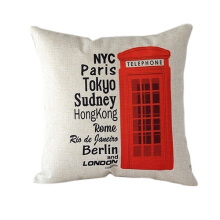 Farfi London Characters Linen Cushion Throw Pillowcase
