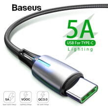 Baseus Upgrade 5A Quick Charge 3.0 USB Type C Cable for Huawei P20 Lite Pro 2A Fast Charge Cable For Samsung Note 9 S9 S8 Plus