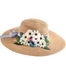 SiYing Korean version of the beach holiday sunscreen ladies bow straw hat