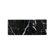 GLERRY HOME DÉCOR Miter Black Zircon Marble - 10x25Cm